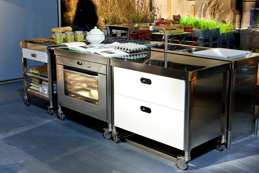 Edelstahl-Küchenmodule
