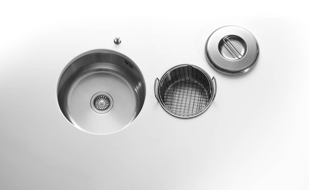 Edelstahl-Behälterkörbe für runde oder rechteckige Becken