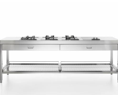 Alpes Inox Küchenelement zum Kochen 250 cm