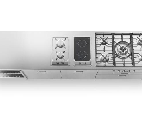Küchenmöbel aus Edelstahl 280 cm breit