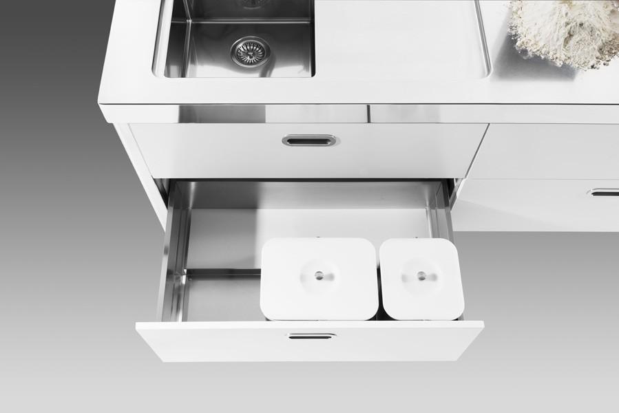 Edelstahlküche 190 cm multifunktional