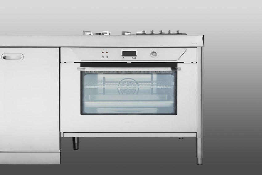 Edelstahl Küchenelement 250 cm breit