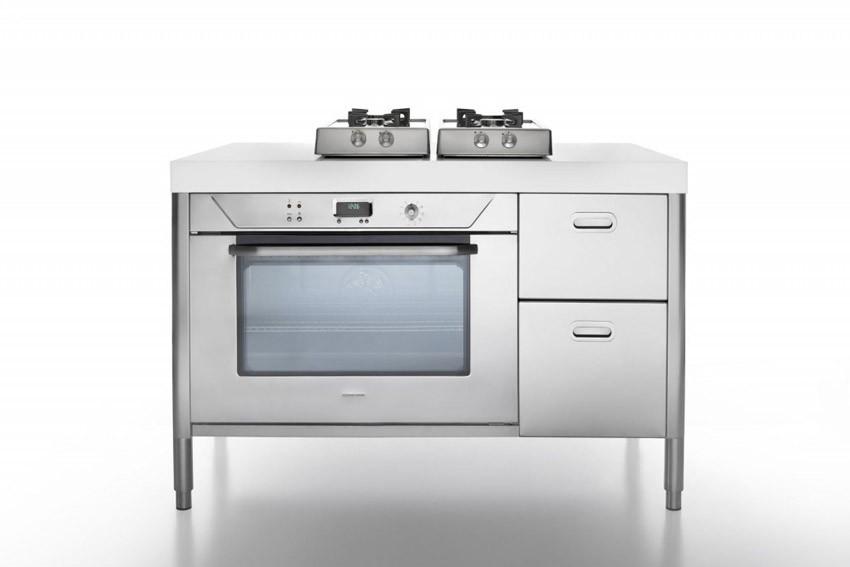 Edelstahl Küche 130 cm kochen, backen und lagern