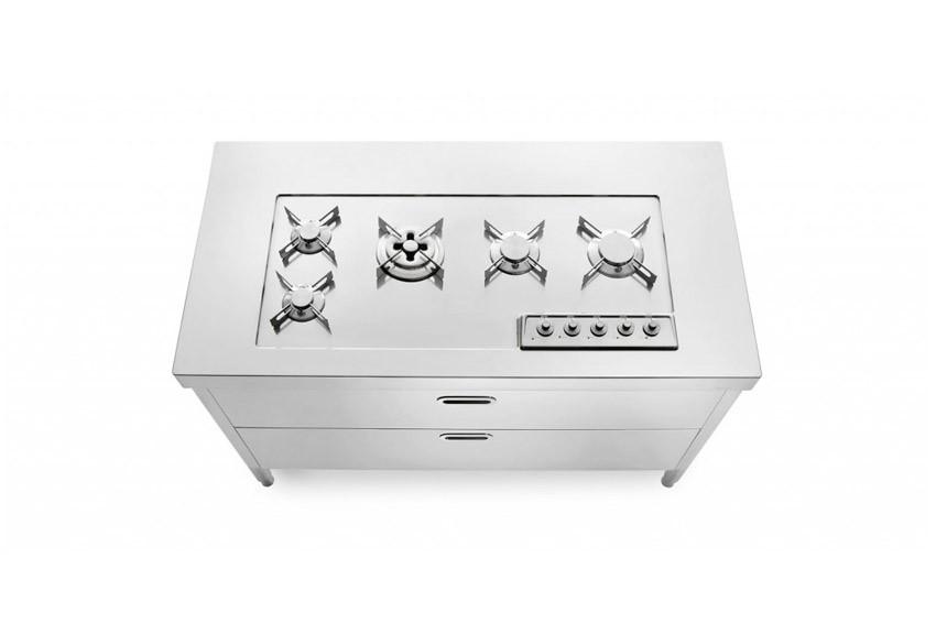 Edelstahl Küche 130 cm kochen/lagern