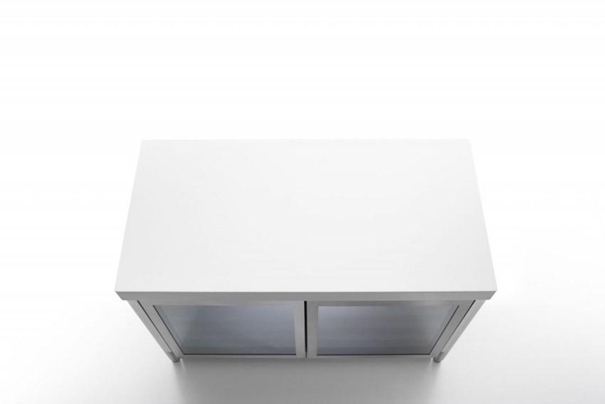 Edelstahl Küche 130 cm Weinkühlschrank