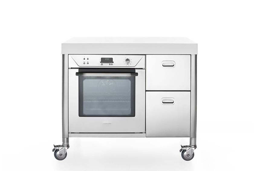 Küchenelement aus Edelstahl, 100 cm