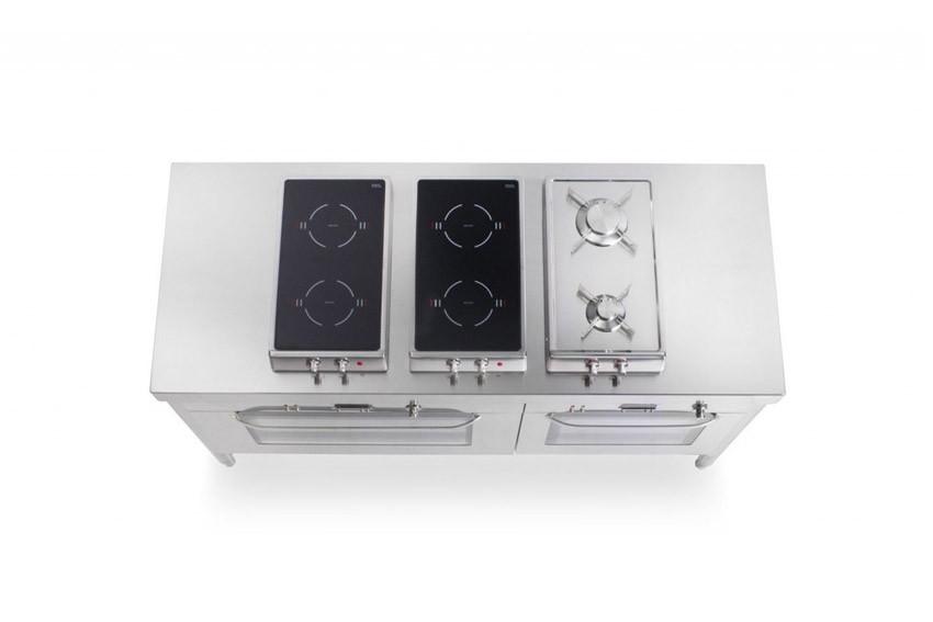 Edelstahl-Küchenelement zum Kochen und Backen 160 cm