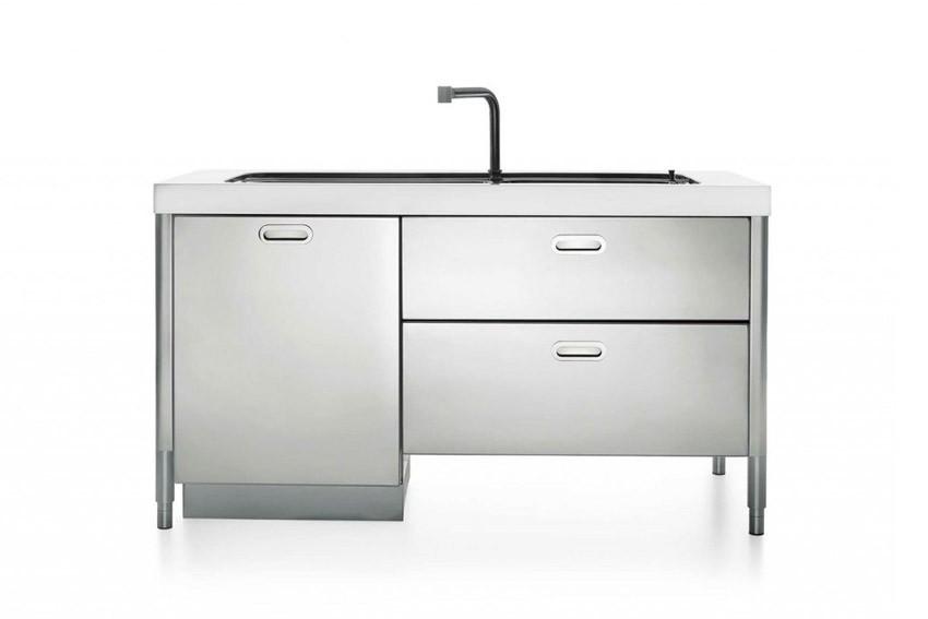 Edelstahl-Küchenelement zum Spülen 160 cm
