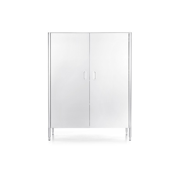 Edelstahl-Hochschrank 128 cm