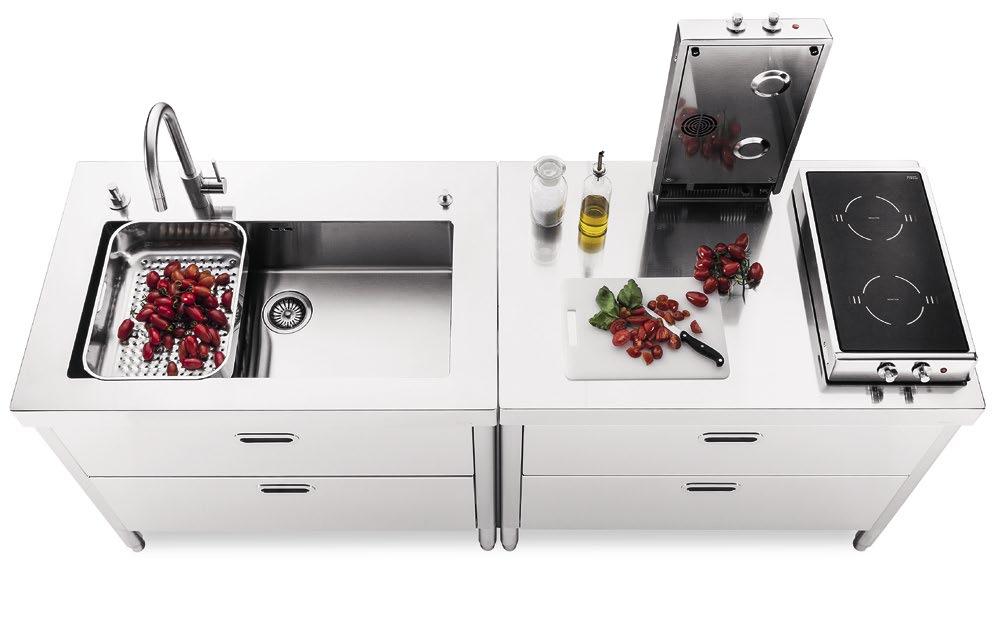 Komplett Küche Small Alpes Inox