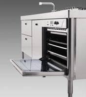 Ofen mit herausziehbaren Backblechen